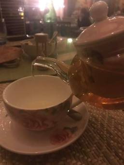 Chamomile tea at Parisa